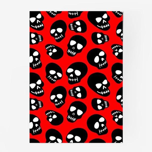 Постер «Мультяшные черепа. Счастливого хэллуина! »