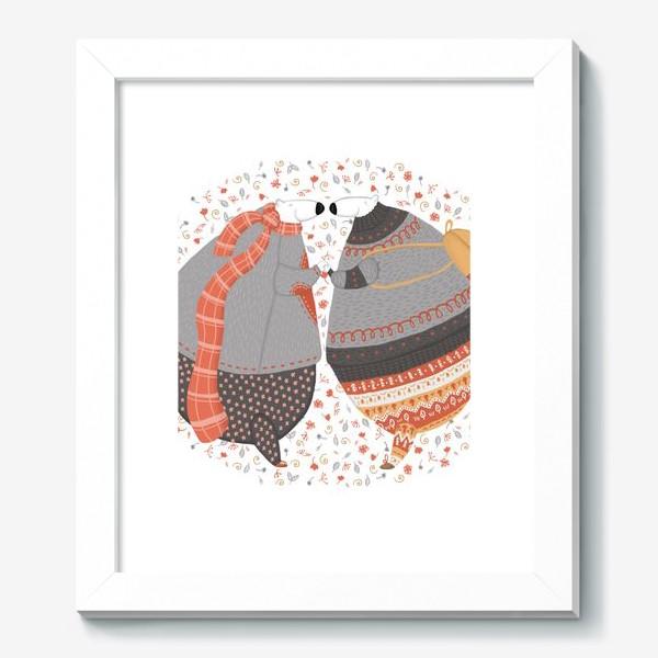 Картина «Мишки в любви»