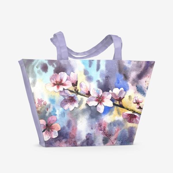 Пляжная сумка «Цветущий миндаль»