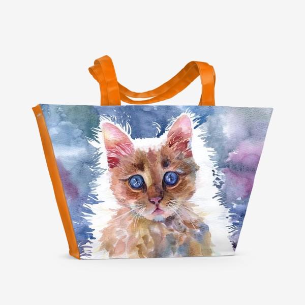 Пляжная сумка «Рыжий котенок»