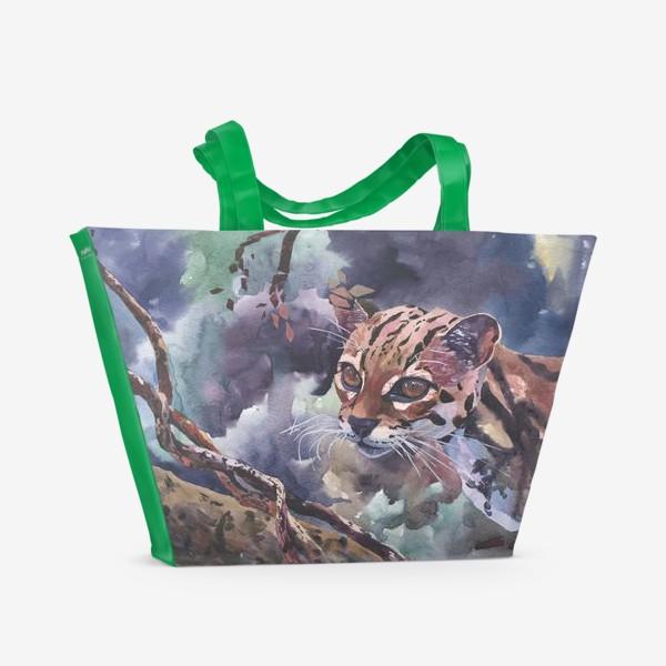 Пляжная сумка «Дикая кошка»