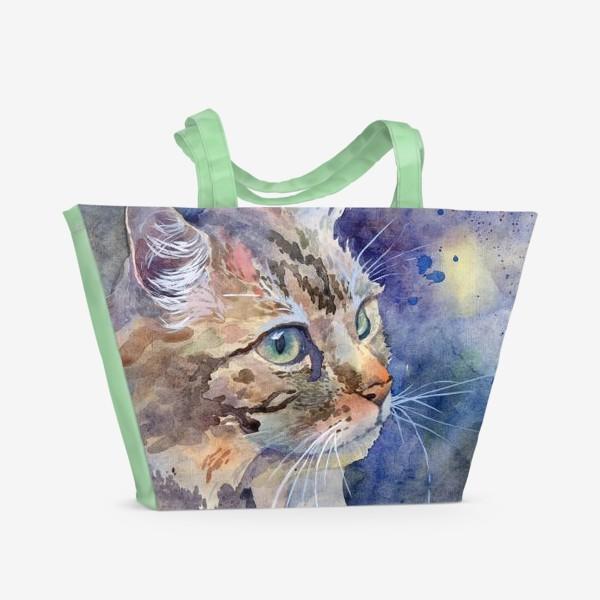 Пляжная сумка «Рыжая кошка»