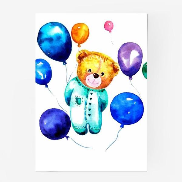 Постер «Новорождённый мишка»