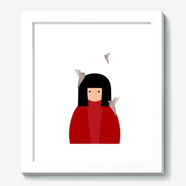 Картина «Восточная девушка с оригами - птицами»