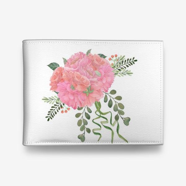 Кошелек «Wedding bouquet with peonies.»