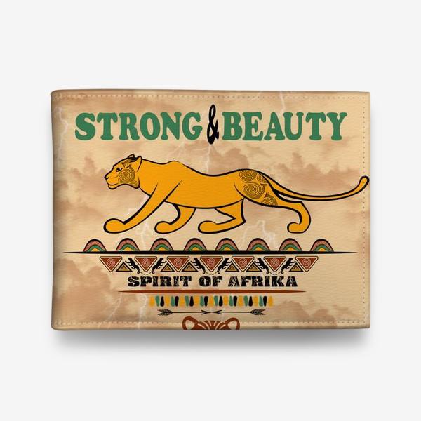 Кошелек «STRONG & BEAUTY. Львица на гранжевом фоне»
