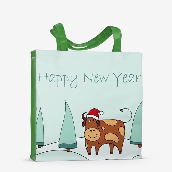 Сумка-шоппер «Поздравление С Новым Годом. 2021. Символ нового года 2021»