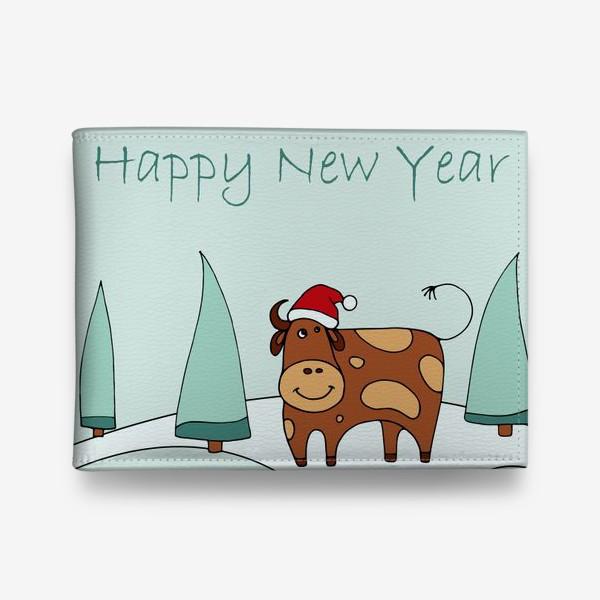 Кошелек «Поздравление С Новым Годом. 2021. Символ нового года 2021»