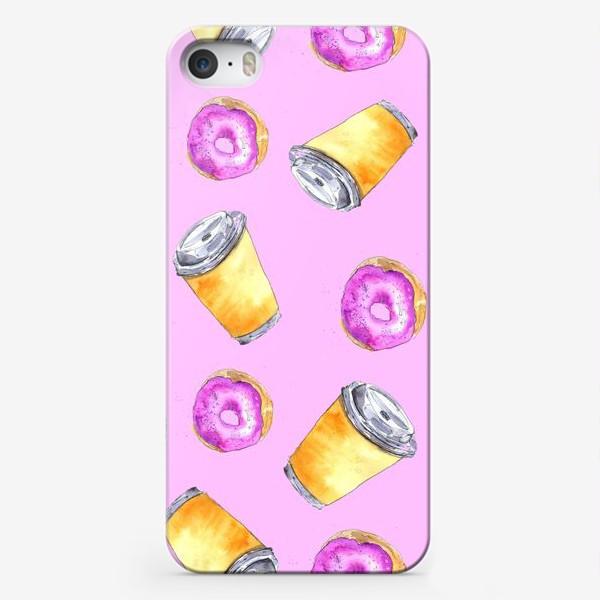 Чехол iPhone «Кофе и пончики»