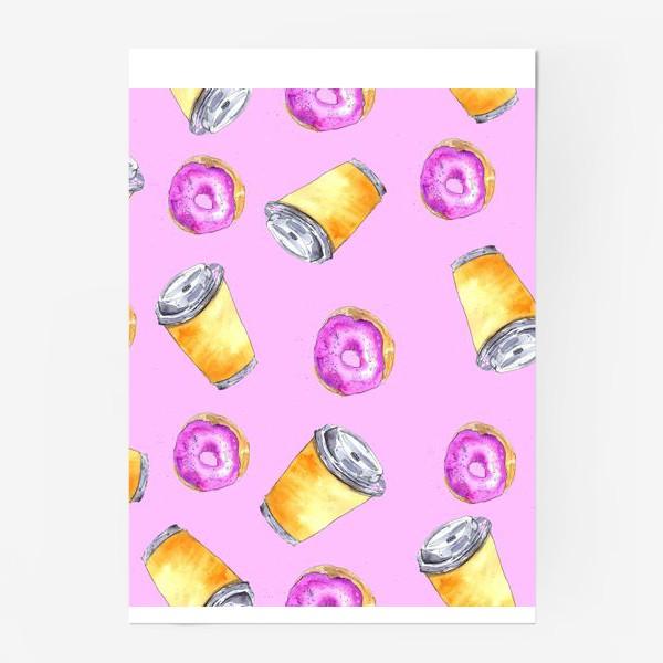 Постер «Кофе и пончики»