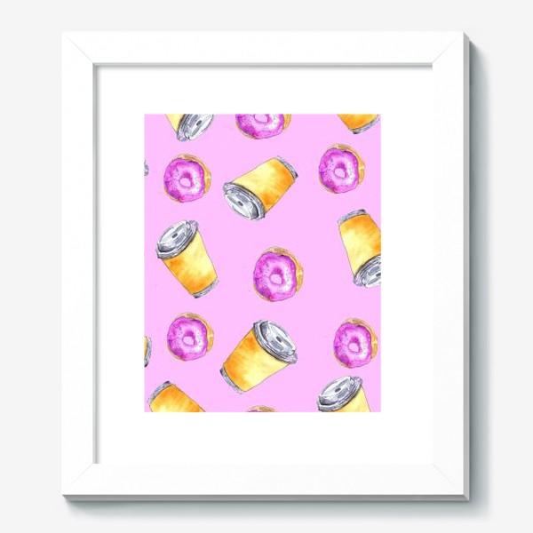Картина «Кофе и пончики»