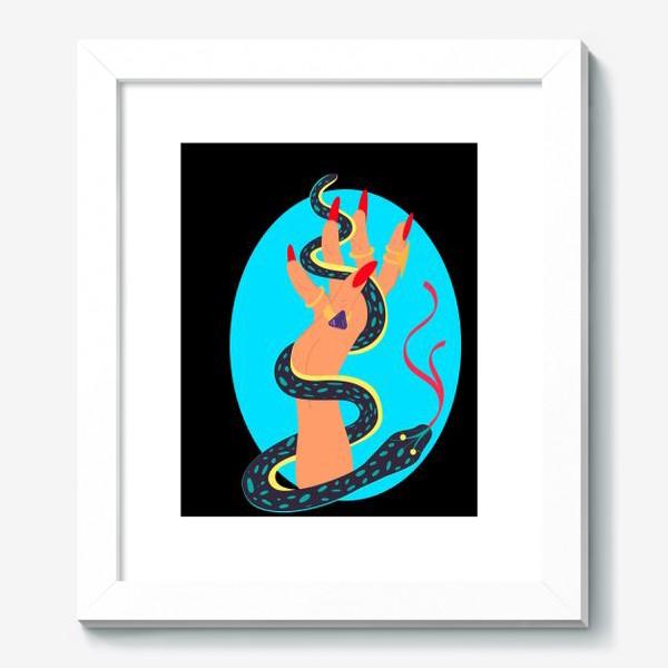 Картина «Рука колдуньи со змеей. Хэллуин. Тату »
