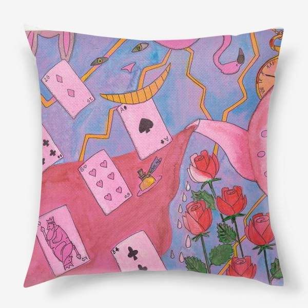 Подушка «Чаепитие в стране чудес»