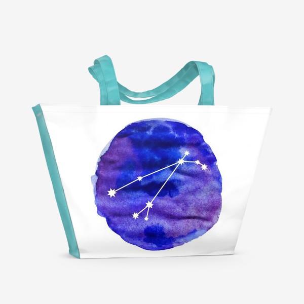 Пляжная сумка «Овен. Акварель»