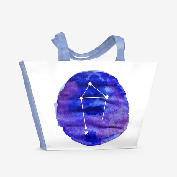 Пляжная сумка «Весы. Акварель»