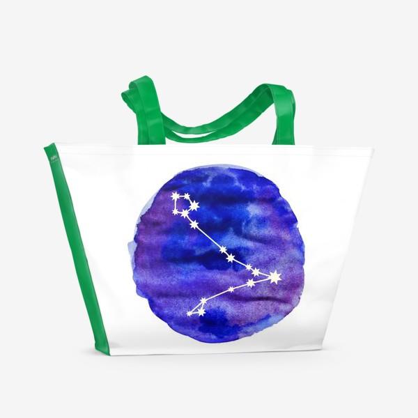Пляжная сумка «Рыбы. Акварель»