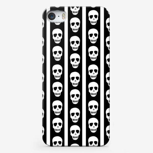 Чехол iPhone «Брутальный принт черепа. Эмо. Хэллуин»