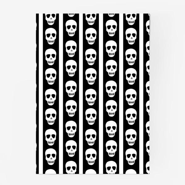 Постер «Брутальный принт черепа. Эмо. Хэллуин»