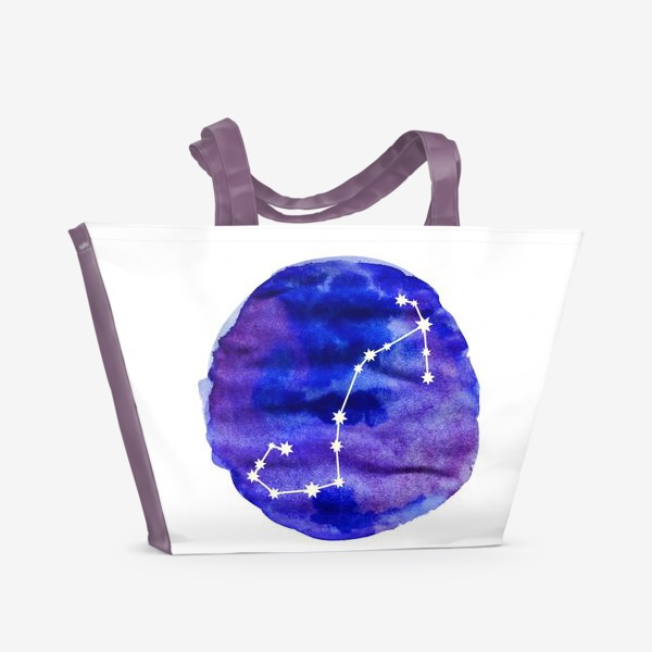 Пляжная сумка «Скорпион. Акварель»