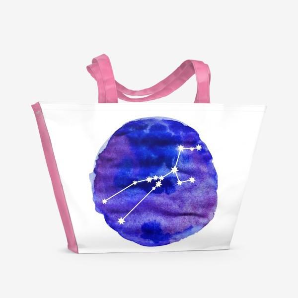 Пляжная сумка «Телец. Акварель»