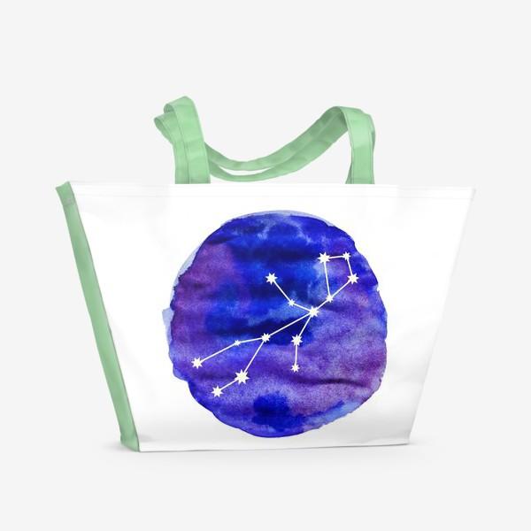 Пляжная сумка «Дева. Акварель»