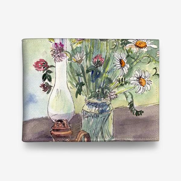 Кошелек «летний натюрморт со стаканом чая»