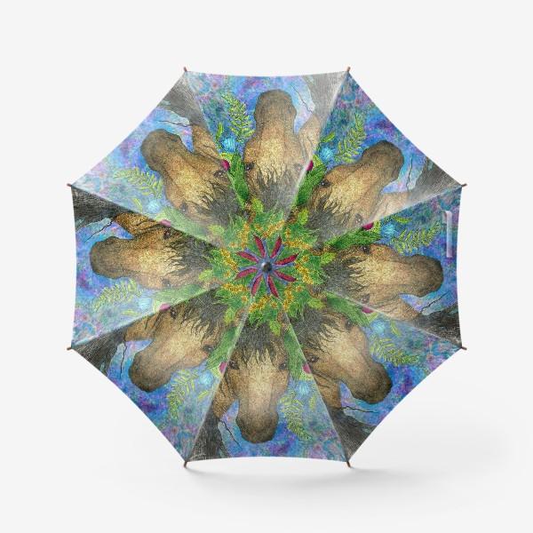 Зонт «Лошадь и весенние цветы»