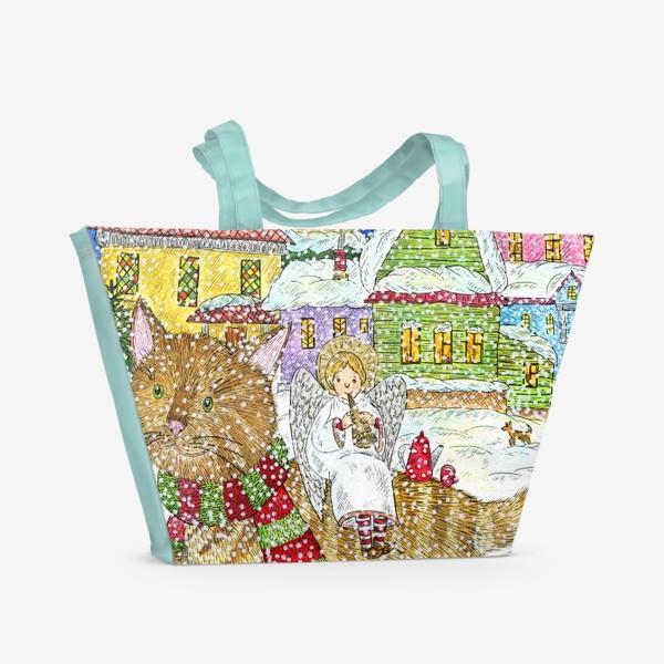 Пляжная сумка «Новогодняя сказка»