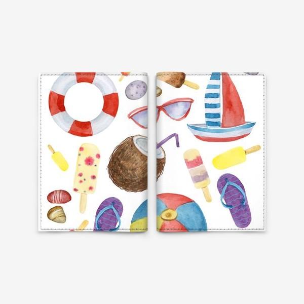 Обложка для паспорта «Лето акварельное»
