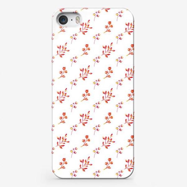 Чехол iPhone «Алые веточки»