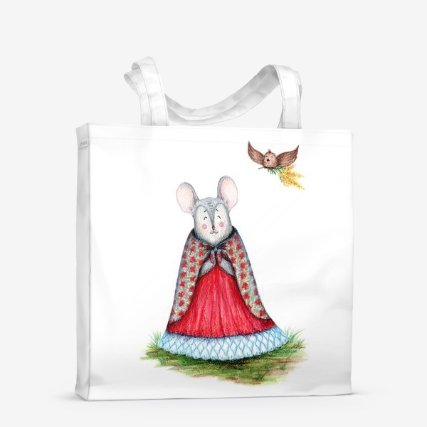 Сумка-шоппер «Мышка и птица»