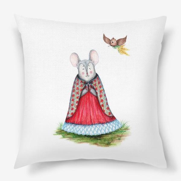 Подушка «Мышка и птица»