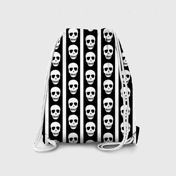 Рюкзак «Брутальный принт черепа. Эмо. Хэллуин»