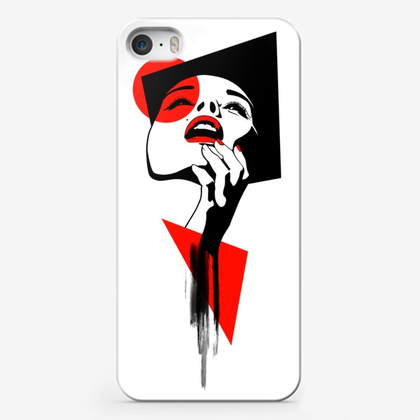 Чехол iPhone «Геометрия и лицо»