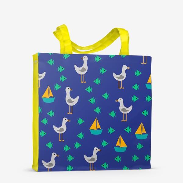 Сумка-шоппер «Чайки, рыбы, корабли»