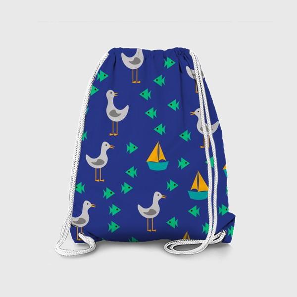 Рюкзак «Чайки, рыбы, корабли»