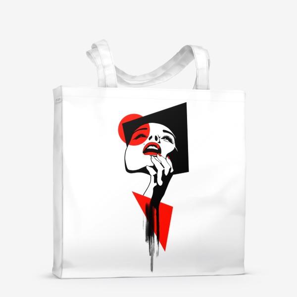 Сумка-шоппер «Геометрия и лицо»