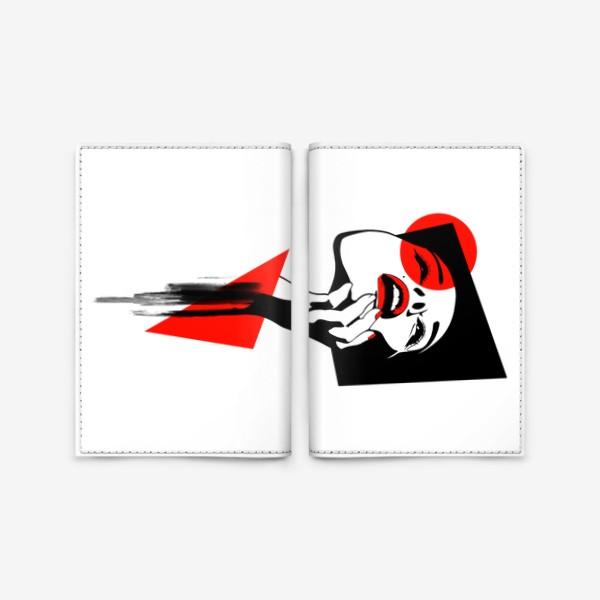 Обложка для паспорта «Геометрия и лицо»