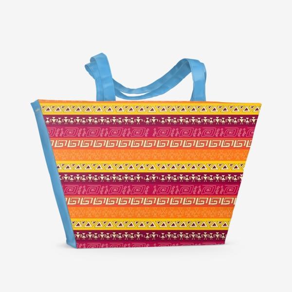 Пляжная сумка «иероглифы»