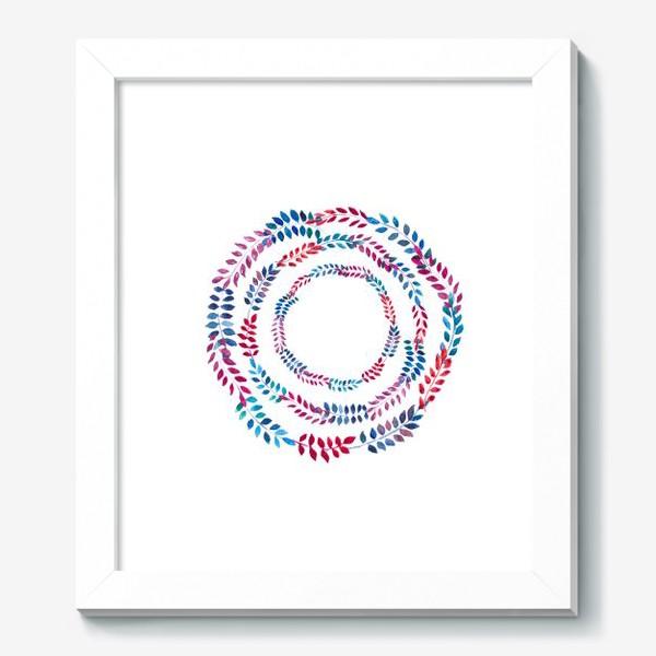 Картина «Орнамент из разноцветных веточек»