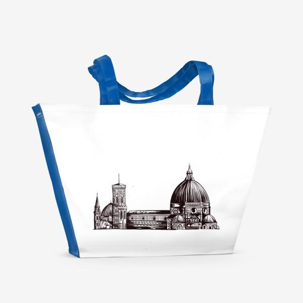 Пляжная сумка «Санта-Мария-дель-Фьоре. Флоренция. Италия. Графика»
