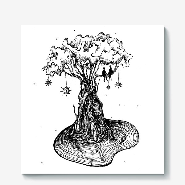 Холст «Любовь нужно растить»