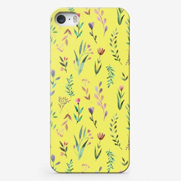 Чехол iPhone «Охра цветочная»