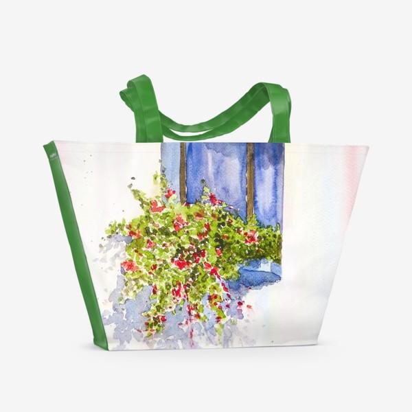 Пляжная сумка «Окно во двор»
