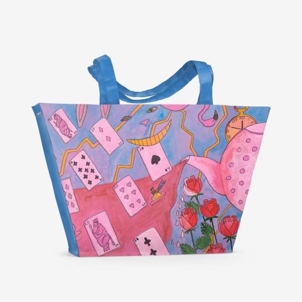 Пляжная сумка «Чаепитие в стране чудес»