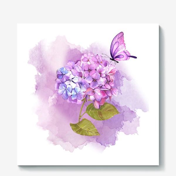 Холст «розовая гортензия»