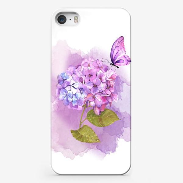 Чехол iPhone «розовая гортензия»