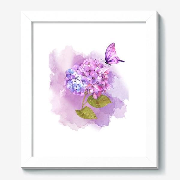 Картина «розовая гортензия»