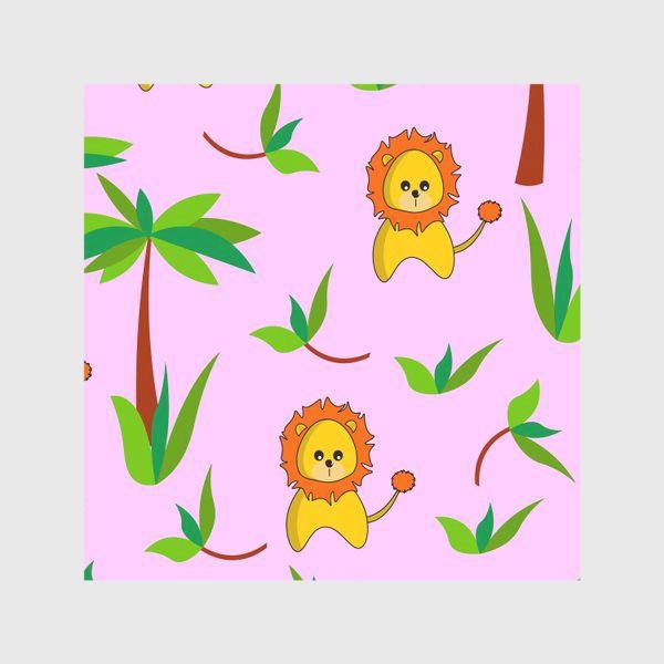 Скатерть «Лев и пальмы»