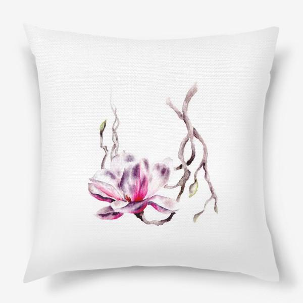 Подушка «Цветок магнолия»